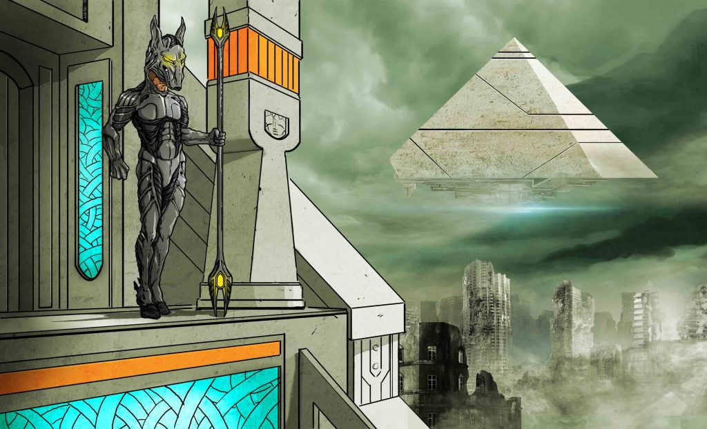 Egyptian Gods spaceship